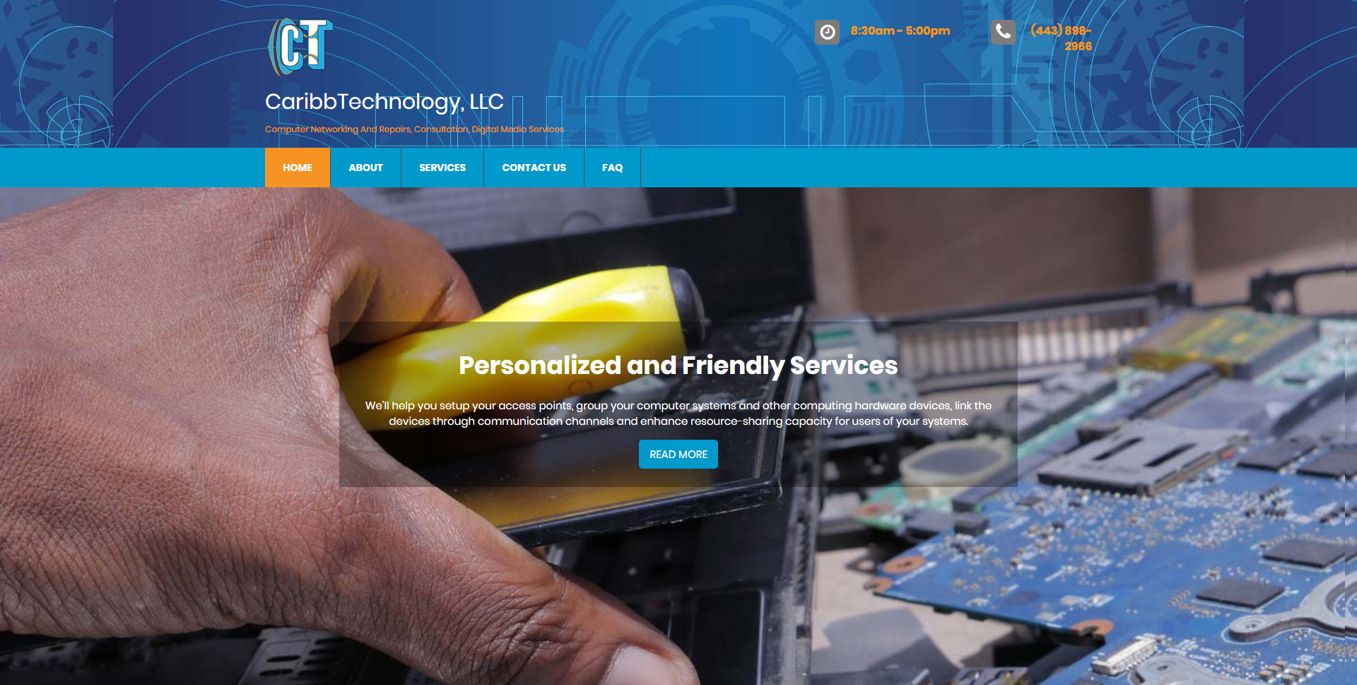 CaribbTechnology Home Web page