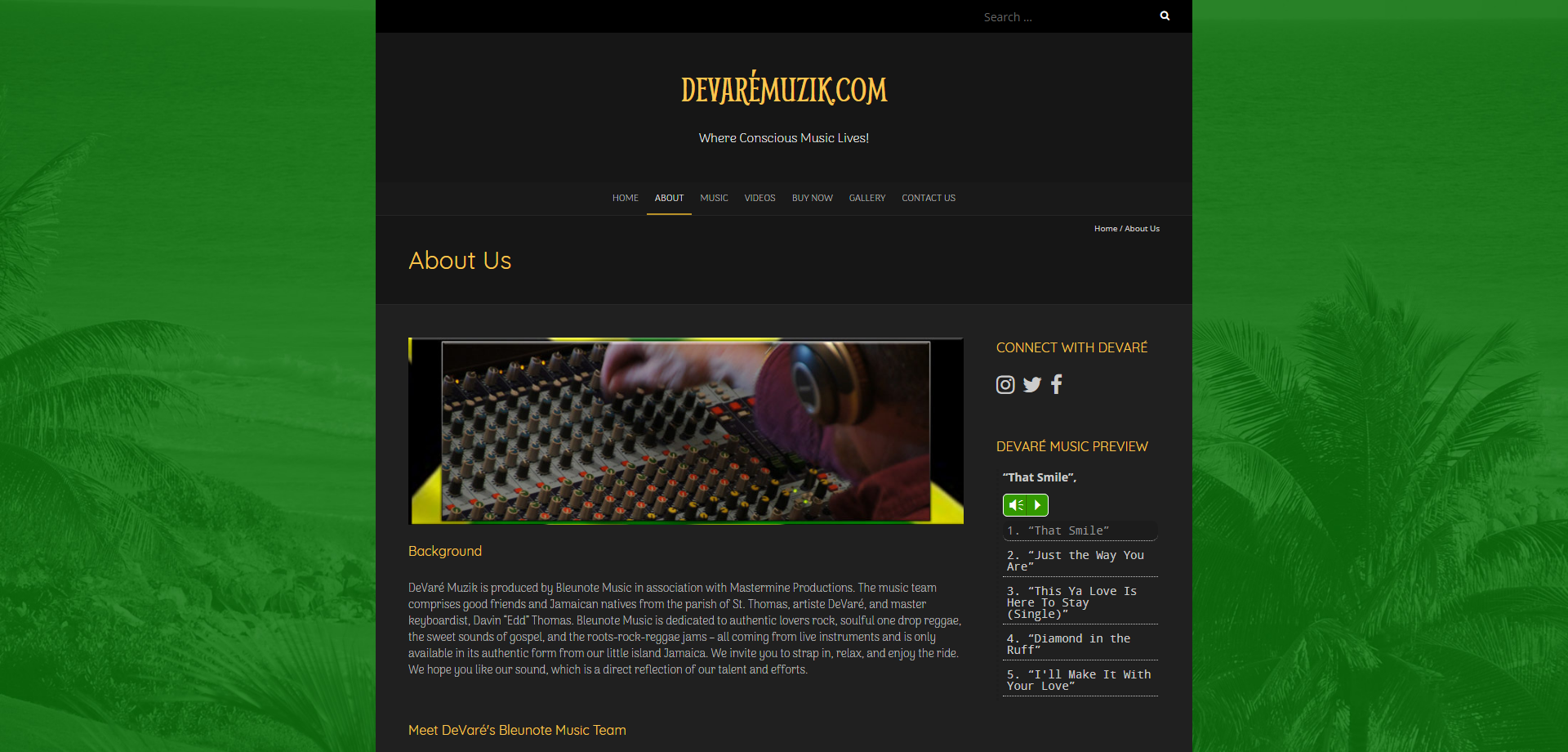 DevareMuzik Contact Web page