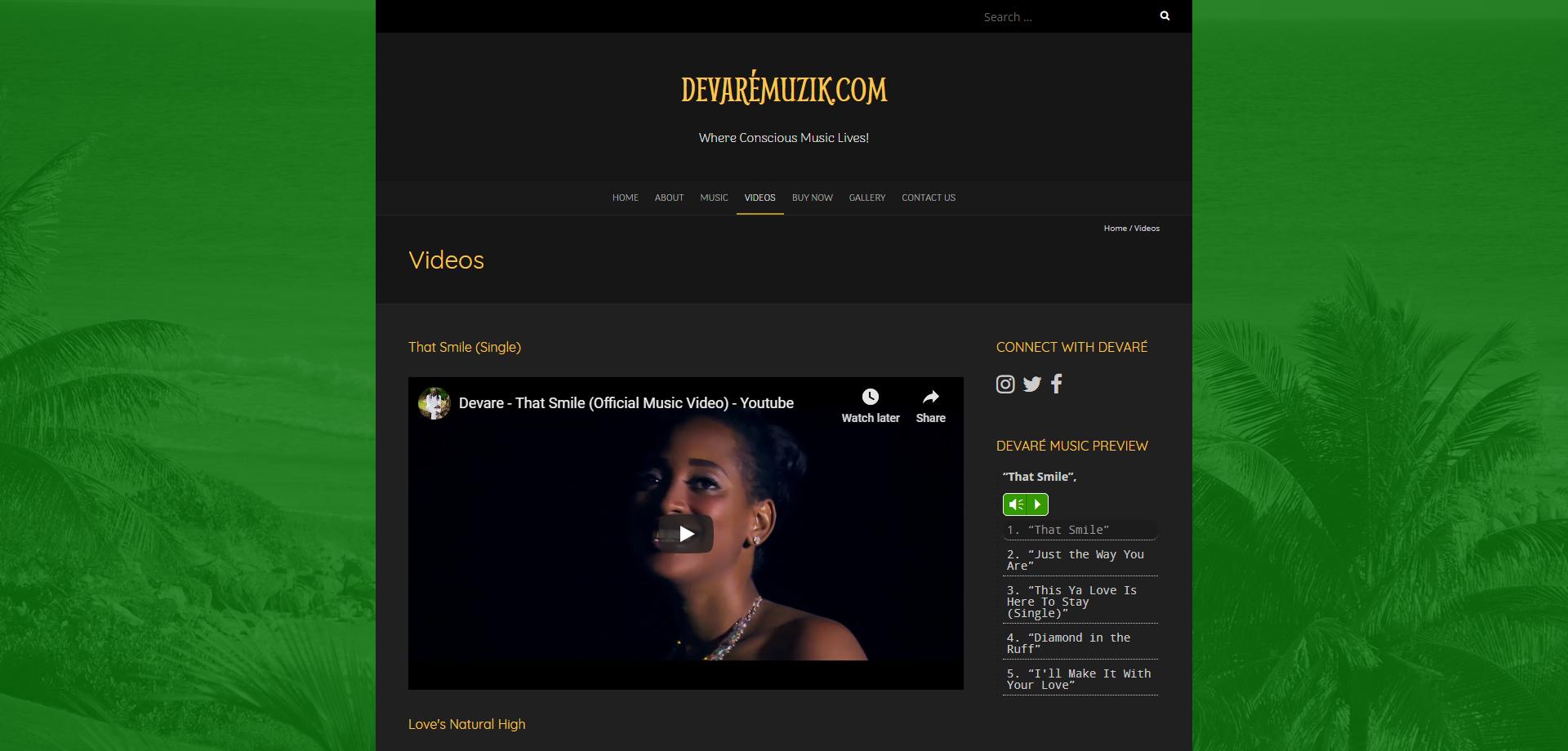 DevareMuzik Videos Web page 1